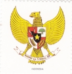 Sellos de Asia - Indonesia -  escudo-INDONESIA   -sin valor postal