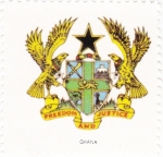 Stamps Ghana -  escudo-GHANA   -sin valor postal