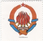 Sellos de Europa - Yugoslavia -  escudo-YUGOSLAVIA   -sin valor postal