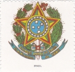 Sellos de America - Brasil -  escudo-BRASIL   -sin valor postal