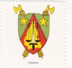 Stamps Cameroon -  escudo-CAMERUN   -sin valor postal