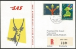 Sellos de Europa - Liechtenstein -  Vuelo inaugural Zürich - Dar-Es-Salaam (Tanzania)