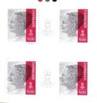 Sellos del Mundo : Europa : Dinamarca : Reina Margrethe II Serie 6