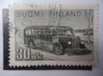 Stamps Finland -  Auto-bus - (Yvert 316 - Sc/253A)