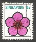 Sellos de Asia - Singapur -  190 - Estilo de flor