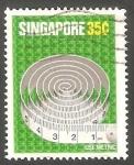 Sellos de Asia - Singapur -  315 - Cintra métrica de sastre