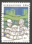 Sellos de Asia - Singapur -  447 - Personas de diferentes razas