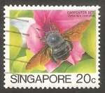 Stamps Singapore -  458 - Insecto