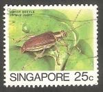 Sellos de Asia - Singapur -  459 - Insecto