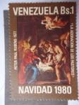 Sellos de America - Venezuela -  Navidad 1980 - La Adoración de los Pastores - Oleo de Peter Paul Rubens 1577