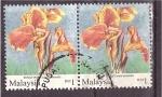 Sellos de Asia - Malasia -  Flores