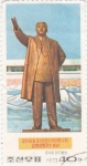 Stamps North Korea -  estatua kim-jong-un