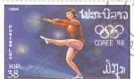 Sellos de Asia - Laos -  olimpiada Corea-88