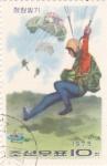 Sellos de Asia - Corea del norte -  paracaidismo