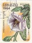 Sellos de Asia - Laos -  flores silvestres