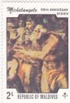 Stamps Maldives -  pintura religiosa