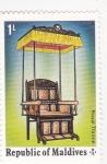 Sellos de Asia - Maldivas -  trono real