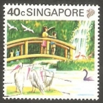 Stamps Singapore -  583 - Parque de aves Jurong