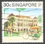 Stamps Singapore -  581 - Raffles