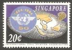 Sellos del Mundo : Asia : Singapur :   719 - 50 Anivº de la Organización de la Aviación Civil Internacional