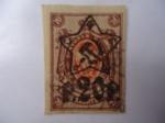 Sellos de Europa - Rusia -  Agula Imperial (Roja) 1889/1919- Sin Dentar - Sobre impreso 20 Rublos 1922.