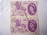 Stamps United Kingdom -  3er. Centenario de la Of. de Correo 1960- Elizabeth II - General Letter Office.