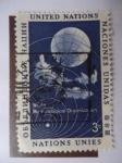 Stamps : America : ONU :  Naciones Unidas - Organización Meteorológica Mundial - Satélite