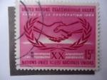 Stamps : America : ONU :  United Nations - XX Aniversario.