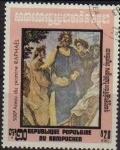 Stamps Cambodia -  CAMBOYA 1983 Scott 404 Sello 500 Aniversario Pintor Rafael Dante Ennius Horner Matasello de favor Pr