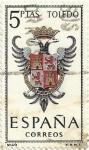Stamps Spain -  ESCUDOS DE CAPITAL DE PROVINCIA. GRUPO V. Nº 49. TOLEDO. EDIFIL 1696