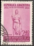 Sellos de America - Argentina -  Primer aniversario  de la Revolucion Libertadora