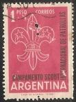 Sellos de America - Argentina -  Campamento Scout