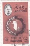 Sellos del Mundo : Asia : Bahrein : Mapa Bahrein