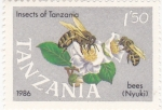 Stamps Tanzania -  insectos