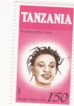 Stamps : Africa : Tanzania :  peinado africano