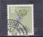 Sellos de Africa - Uganda -  flores
