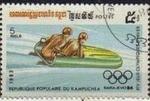 Sellos de Asia - Camboya -  CAMBOYA 1983 Michel 520 Sello Juego Olimpicos Invierno Bobsleigh Usado