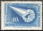 Sellos de America - Argentina -  50 ños de la explotacion fiscal del petroleo