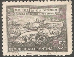 Sellos de America - Argentina -  Puerto de Buenos Aires en 1800