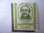 Stamps Venezuela -  Primer Centenario de la Muerte de Rafael María Baralt 1860-1960