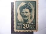 Sellos de Europa - Rusia -  Vasily Ivanovich Chapayev (1887-1919) Héroe de la Guerra Civil 1918/21