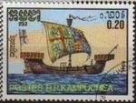 Stamps Asia - Cambodia -  CAMBOYA 1986 Michel 776 Sello Serie Barcos Antiguos usado YV639