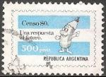 Sellos del Mundo : America : Argentina : Censo 80