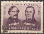 Sellos del Mundo : America : Argentina : Centenario del pacto de San Jose de Flores