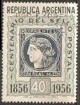 Stamps Argentina -  Centenario del sello postal