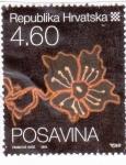 Sellos de Europa - Croacia -  ilustración de una flor