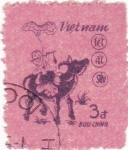 Stamps Vietnam -  ilustración niño y animal