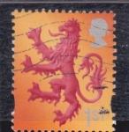Sellos de Europa - Reino Unido -  león rampante