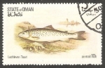Stamps Oman -  Fauna marina