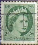 Stamps Canada -  CANADA 1961 Scott 338 Sello Reina Isabel II Usado